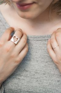 Daya Heart Ring from Tribe of Lambs. One Ring, One Heart.