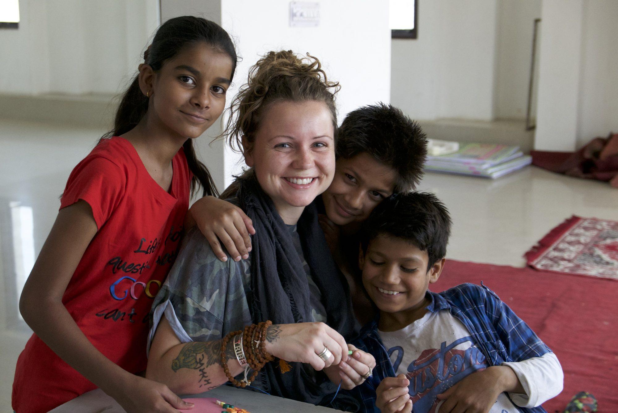 Bobbi with RAYS children
